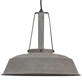 Industrial Workshop Pendant Light in Rustic Grey - (Diameter 45cm)