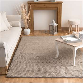 INDUSTRY woollen rug in beige (160 x 230cm)