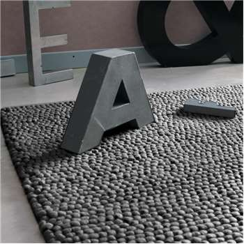 INDUSTRY woollen rug in grey (140 x 200cm)