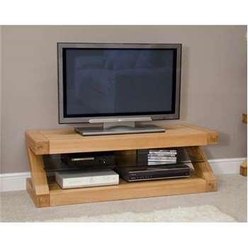 Infinity 120cm Solid Oak TV Unit (40 x 120cm)