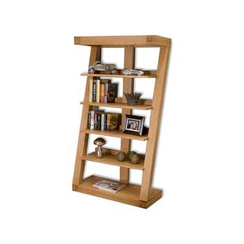 Infinity 165cm Solid Oak Bookcase (165 x 90cm)