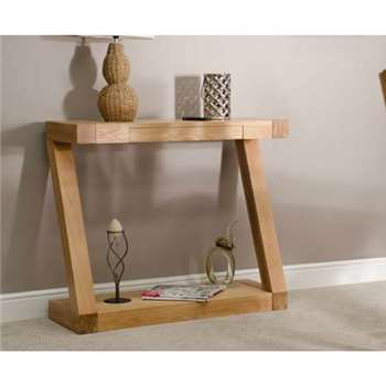 Infinity Solid Oak Console Table (85 x 100cm)