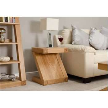 Infinity Solid Oak Lamp Table (60 x 50cm)