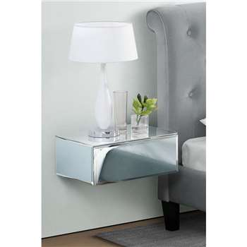 Inga Mirrored Floating Bedside / Console / Shelf / Storage System (18 x 44cm)