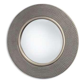 Innova Round Hammered Silver Mirror (Diameter 80cm)