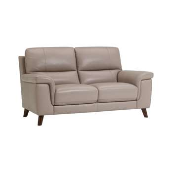 Inspire Grey Leather 2 Seater Sofa (H93 x W159 x D90cm)