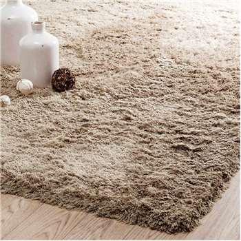 INUIT fabric long pile rug in beige (160 x 230cm)