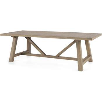 Iona 10 Seat Dining Table, Washed Pine (H76 x W240 x D100cm)