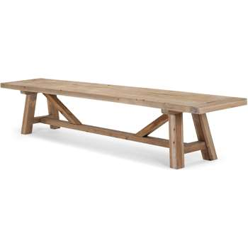Iona Extra Large Bench, Solid Pine (44 x 240cm)