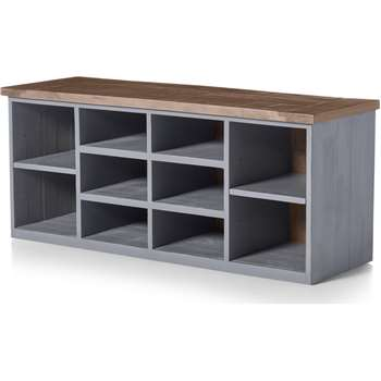 Iona Hallway Storage, Grey and Pine (H44 x W105 x D35cm)