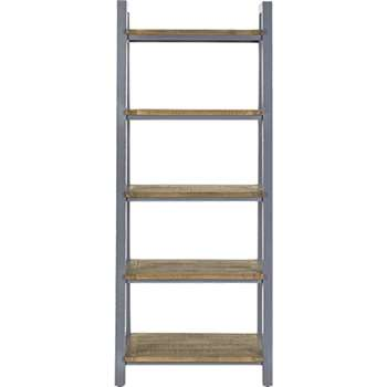 Iona Shelving Unit, Solid Pine and Pebble Grey (185 x 76cm)