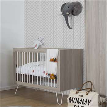 Ironwood Baby Cot in Ashen (95 x 125cm)