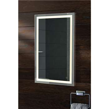 Irvine Illuminated LED Bathroom Mirror (H80 x W50 x D5cm)