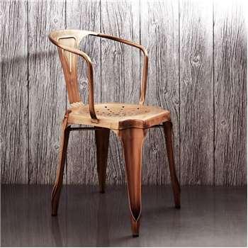 Isaac Copper Armchair (H80 x W50 x D50cm)