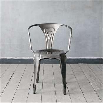 Isaac Nickel Armchair (H80 x W50 x D50cm)