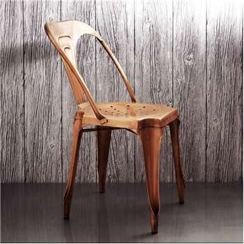 Isaac Iron Chair In Copper (83 x 40cm)