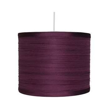 "Isabel 10"" Pendant Light Shade Plum (H18 x W25 x D25cm)"