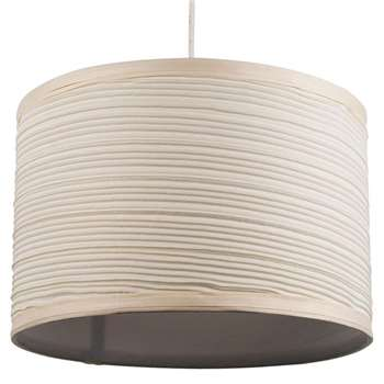 "Isabel 12"" Pendant Light Shade Cream (H20 x W30 x D30cm)"