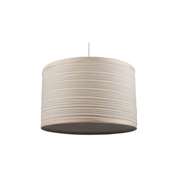 "Isabel 14"" Pendant Light Shade Cream (H22 x W35 x D35cm)"
