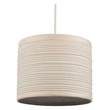 "Isabel 8"" Pendant Light Shade Cream (H16 x W20 x D20cm)"