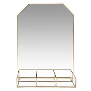 ISENIA - Gold Metal Mirrored Jewellery Stand (H36 x W25 x D8cm)