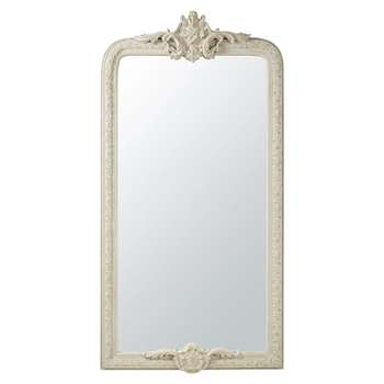 ISIDORE - Mirror with Grey Paulownia Mouldings (H176 x W90 x D9cm)