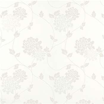 Isodore Cotton White Floral Wallpaper