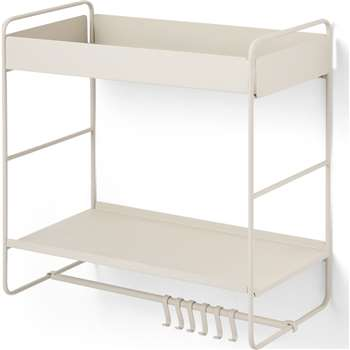 Isolde 2 Tier Interchangeable Wall Mounted Storage Unit, Putty (H51 x W51cm)