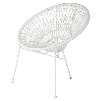 ITAPEMA Stackable Garden Armchair in Resin String and White Metal (H78 x W72 x D66cm)