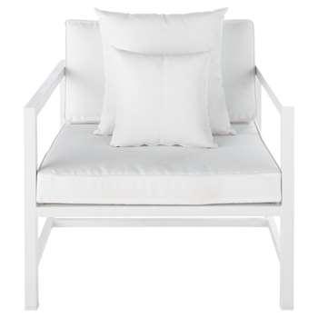 ITHAQUE Aluminium garden armchair in white (67 x 80cm)