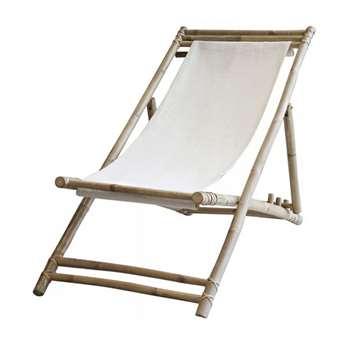 Ivory Bamboo Deck Chair (H80 x W60 x D110cm)
