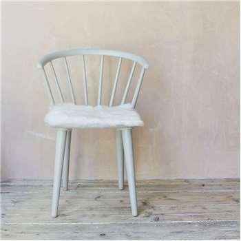 Ivory Sheepskin Seat Pad (H37 x W37cm)