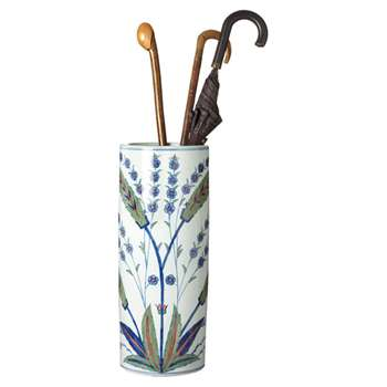 Iznik Umbrella Stand - White (57 x 24cm)