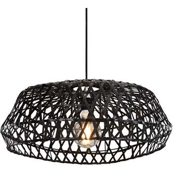 Jaan Large Rattan Shade, Black (20 x 55cm)