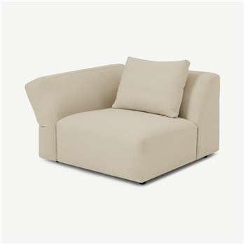 Jacklin Left Hand Facing Modular Armchair, Natural Recycled Weave (H73 x W100 x D103cm)