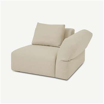 Jacklin Right Hand Facing Modular Armchair, Natural Recycled Weave (H73 x W100 x D103cm)