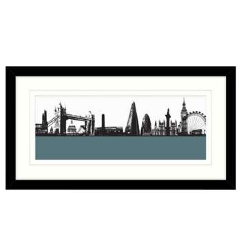Jacky Al-Samarraie London Skyline Framed Print, 64 x 34cm