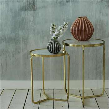 Jacques Set of Two Side Tables (H62 x W49 x D49cm)