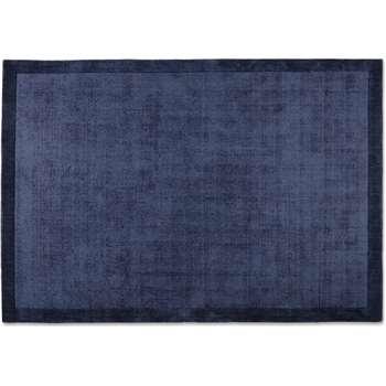Jago Border Rug, Ink Blue (H160 x W230 x D1.7cm)