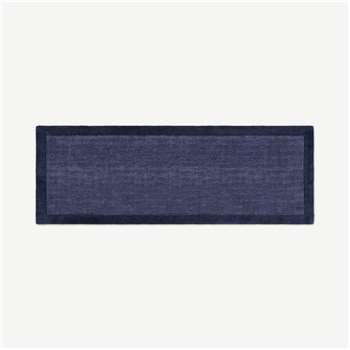 Jago Border Runner, Ink Blue (H200 x W70 x D1.7cm)