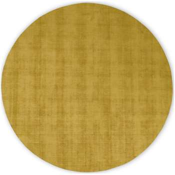 Jago Round Rug, Large, Antique Gold (Diameter 200cm)