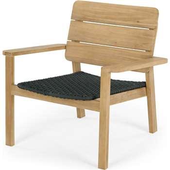 Jala Garden Lounge Chair, Acacia wood and Spun Polyester (H74 x W67 x D77cm)