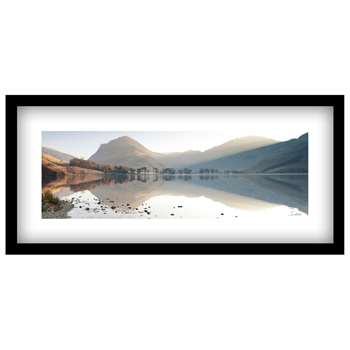 James Bell - Buttermere View Landscape Framed Print (H49 x W104cm)