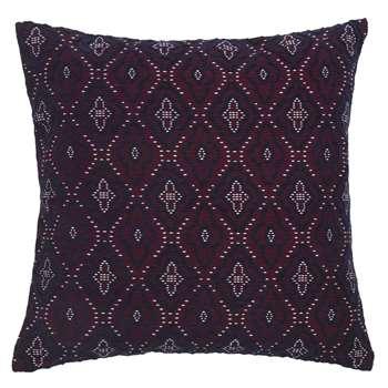 JAMESON Purple Patterned Cotton Cushion Cover (40 x 40cm)