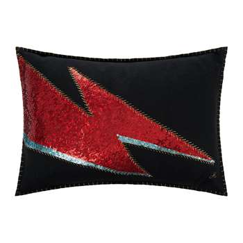 Jan Constantine - Glam Rock Cushion - Black - Ziggy (35 x 48cm)