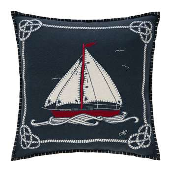Jan Constantine - Seaside Boat and Rope Cushion (H46 x W46cm)