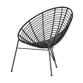 Jane Lounge Chair by Woood - Black (H88 x W72 x D81cm)
