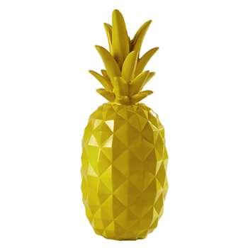 JANEIRO resin pineapple decoration in yellow (57 x 22cm)