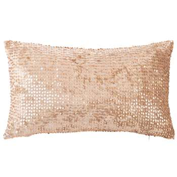 JANELLE - Taupe Velvet Cushion Cover with Gold Sequins (H30 x W50cm)
