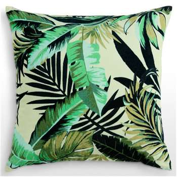 Jangala Velvet Cushion, Leaf Green (50 x 50cm)
